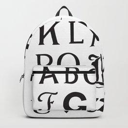 Cemetery Alphabet Backpack