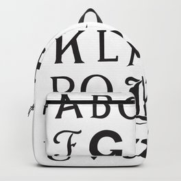 Cemetery Alphabet Backpack