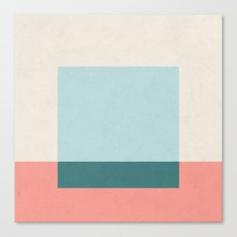 Blue Square Canvas Print