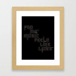 "Type and Music ""JAZZ MUSIC"" Framed Art Print"