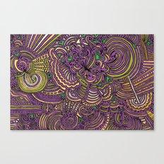 Drawing Meditation - Lilac Canvas Print