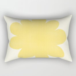 Yellow Flower on Pale Yellow Rectangular Pillow