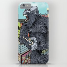 Rocket Boy vs Death Gorilla iPhone Case
