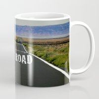 kerouac Mugs featuring ON THE ROAD by muffa