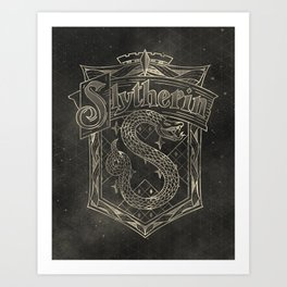 Slytherin House Art Print