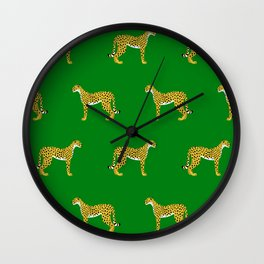 Cheetah Jungle Lush Wall Clock