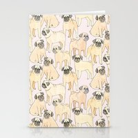 pugs Stationery Cards featuring Pugs by Sian Keegan