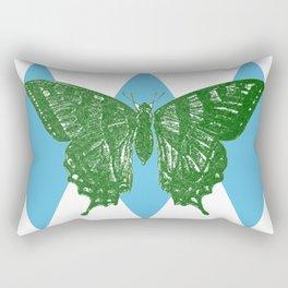 3D Vintage Butterfly  Rectangular Pillow