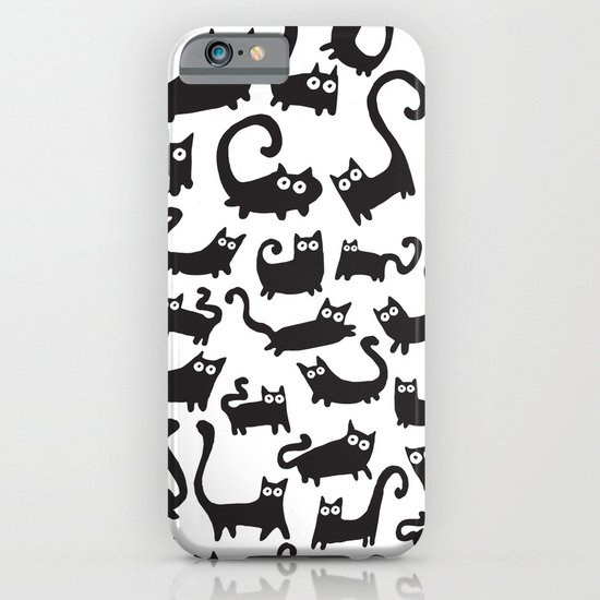 Black cats iPhone & iPod Case by Adrian Serghie