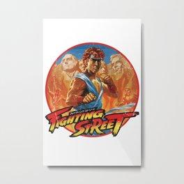 Fighting Street Metal Print