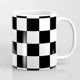Checkered Pattern: Black & White Coffee Mug