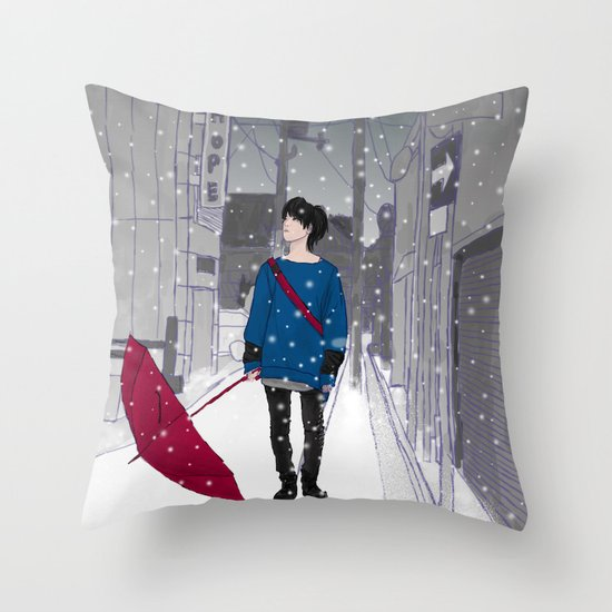 In The Snow Throw Pillow