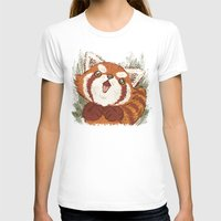 red panda T-shirts featuring Panda by Toru Sanogawa