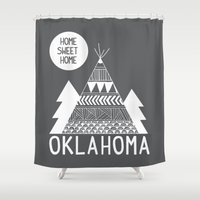 oklahoma Shower Curtains featuring Oklahoma by Ashley Love
