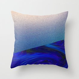 Sapphire and Steel Impressions Throw Pillow
