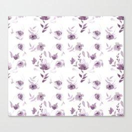 Violet Floral pattern Canvas Print
