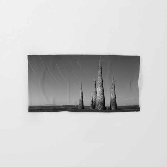 Grey black cones 4 Hand & Bath Towel