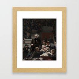 Thomas Eakins - Portrait of Dr Samuel D Gross (The Gross Clinic) Framed Art Print