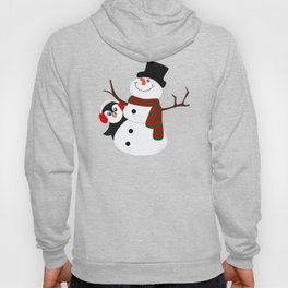 Cute Penguin Snowman Holiday Design Hoody