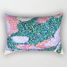 Abstract Dot Flowers Light Palette Rectangular Pillow