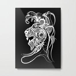 Lion Horoscope Sign Metal Print