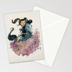 Blue Horse Year 2014 Stationery Cards