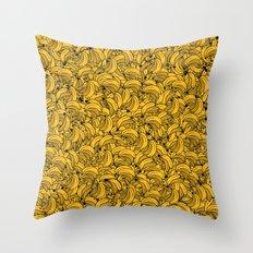 Plenty of Bananas - Yellow Throw Pillow
