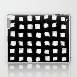 Polka Strokes - Off White on Black Laptop & iPad Skin