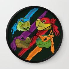 Turtle Heads Wall Clock