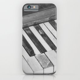 Aged Ivories in Black and White iPhone Case