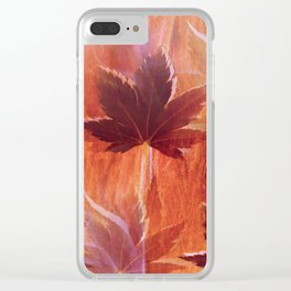 Maple Dream Clear iPhone Case