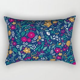 Block Print Botanical Rectangular Pillow