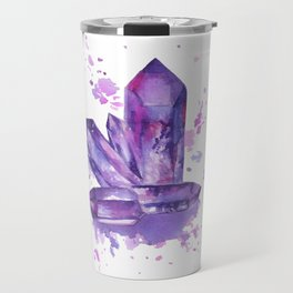Purple Crystals Travel Mug
