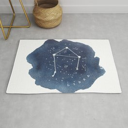 libra constellation zodiac Rug