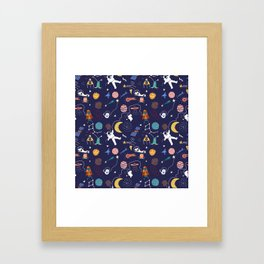 Galaxy space Framed Art Print