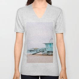 Santa Monica Pier Lifeguard Unisex V-Neck