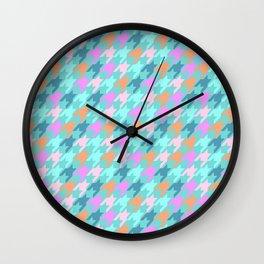 Playfull Houndstooth Wall Clock