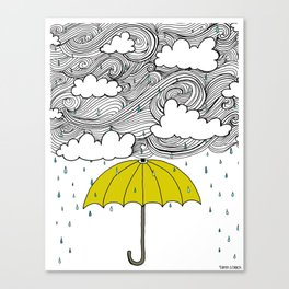 The Yellow Umbrella Canvas Print