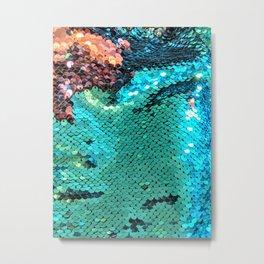 Turquoise Sparkles Metal Print