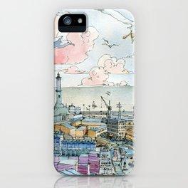 Genova e la Lanterna iPhone Case