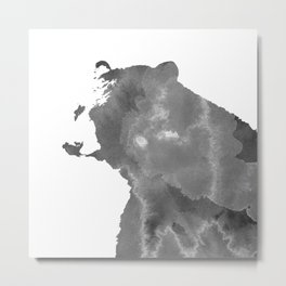graphic bear II Metal Print