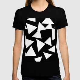 Triangles Black and White T-shirt