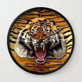 Tiger Roar Wall Clock