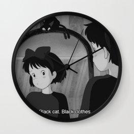 50 shades of black Wall Clock