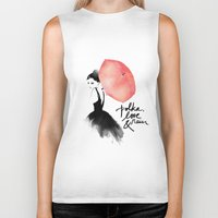 romantic Biker Tanks featuring Polka Rain by Karen Hofstetter