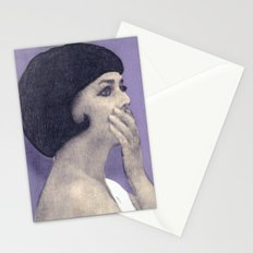 the bride wore black Stationery Cards