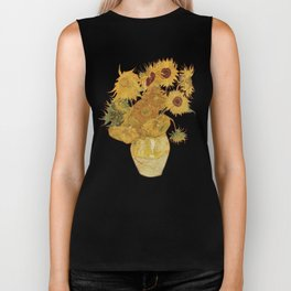 Sunflowers of Van Gogh Biker Tank