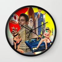 smoking Wall Clocks featuring Smoking by TRASH RIOT
