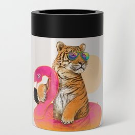 Chillin (Flamingo Tiger) Can Cooler
