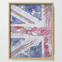 Rustic Union Jack Flag Serving Tray